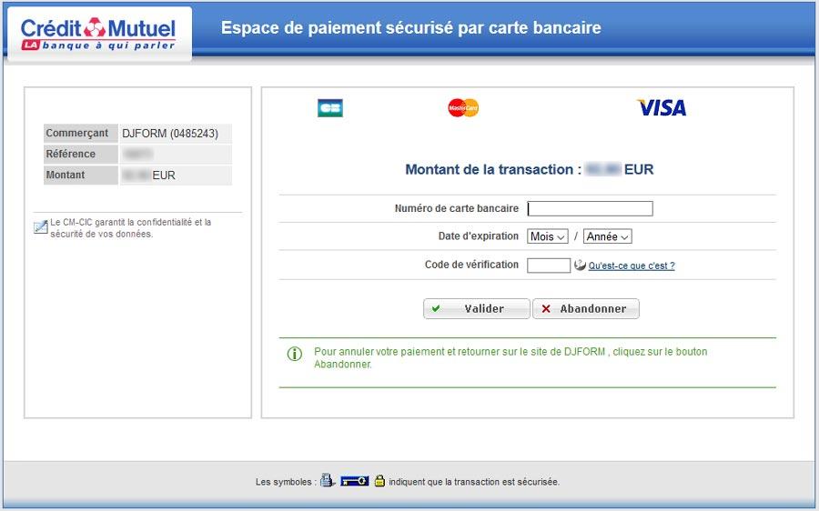 Credit mutuel solution paiement en ligne online application - Plafond compte courant credit mutuel ...