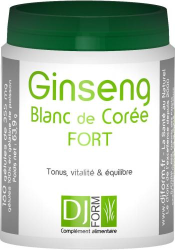 Ginseng Blanc de Corée Fort - Djform