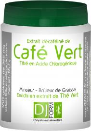 Etiquette Café Vert et Thé Verty Djform 180 gélules