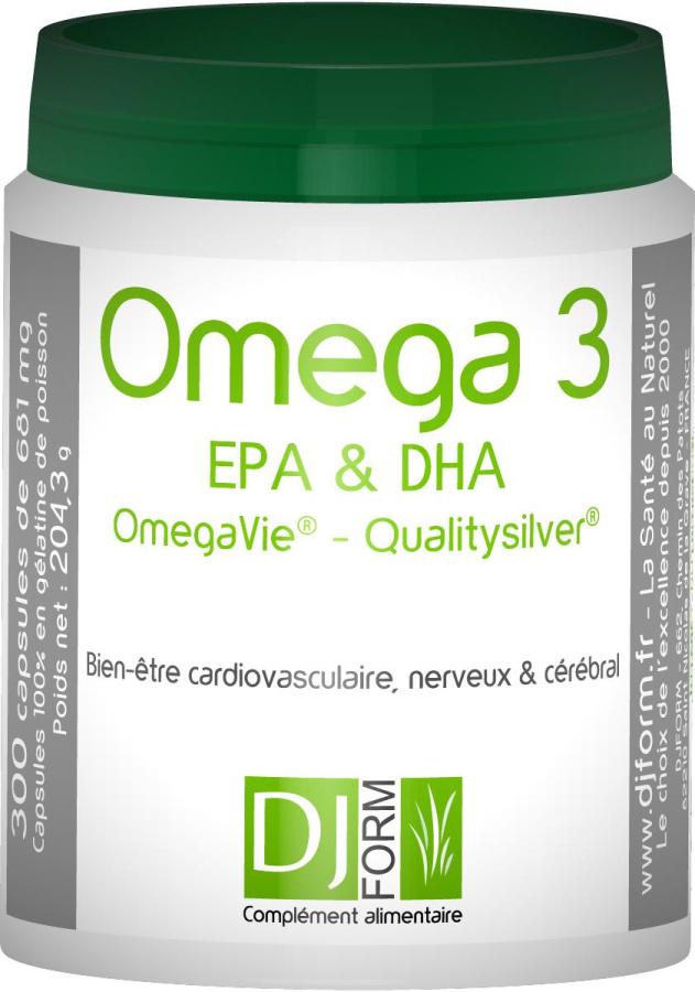 Oméga 3 EPA et DHA Djform - Qualitysilver OmegaVie