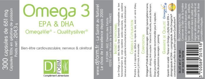 Oméga 3 EPA et DHA Djform - Qualitysilver