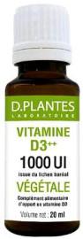 Vitamine D3++ 1000 UI Végétale - D.Plantes